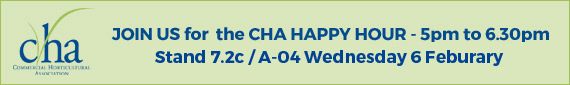 JOIN US for the CHA HAPPY HOUR - 5pm to 6.30pm Stand 7.2c / A-04 Wednesday 6 February
